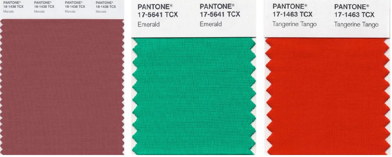 Cores de anos anteriores - PANTONE | Imagem: divulgação