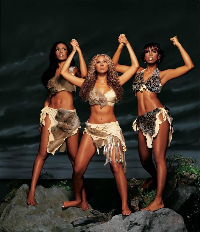 Legenda: Foto do Destiny's Child na época de Beyoncé, Kelly Rowland e Michelle Williams. Alguns dos maiores sucessoS do trio foram Survivor, Soldier e Bootylicious