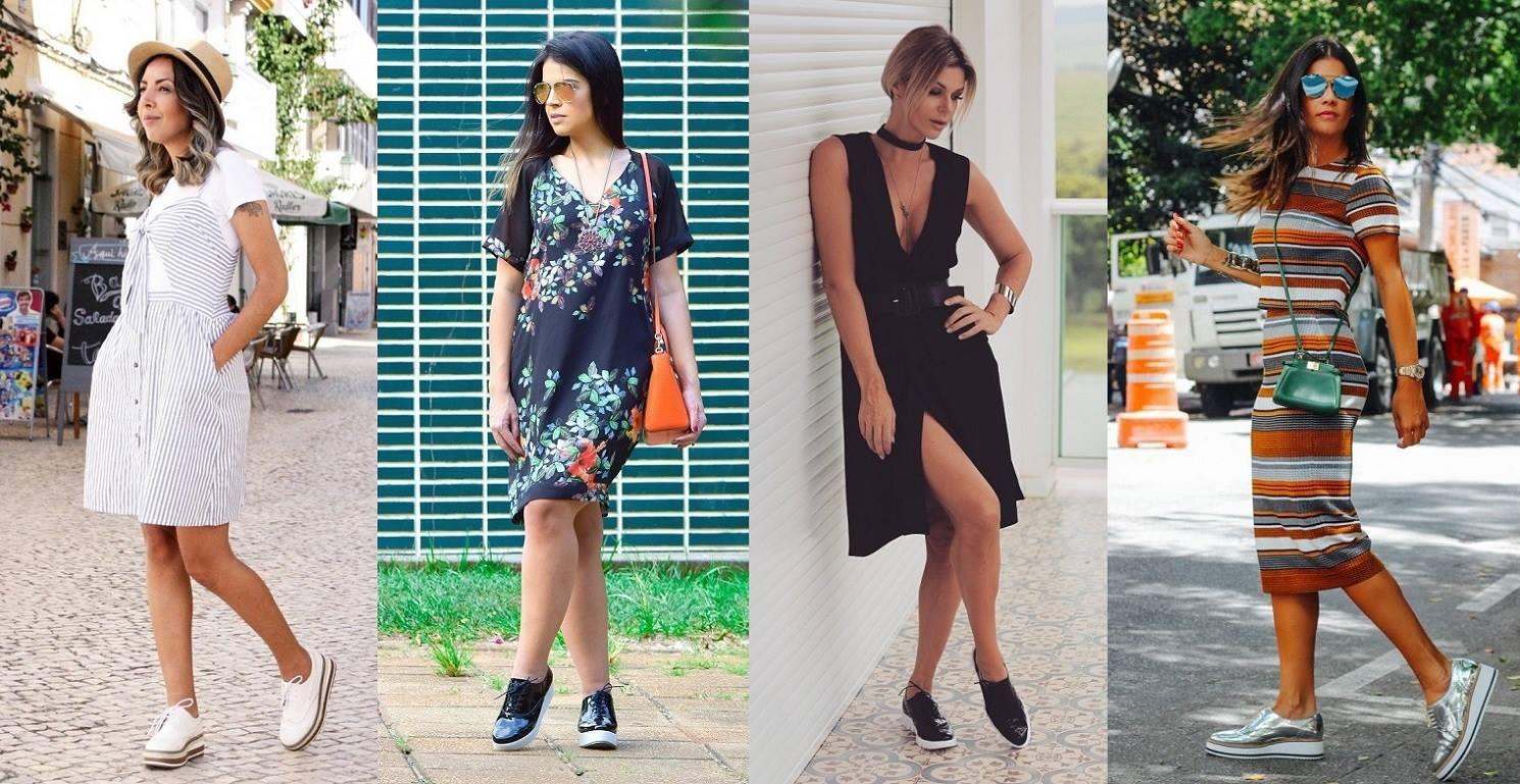 Legenda: Fotos dos blogs Estilo a qualquer custo, Denize Lima, Denize Sperafico e Aeletânia Oliveira, respectivamente